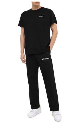 Мужская хлопковая футболка AMIRI черного цвета, арт. F0M03232CJ | Фото 2