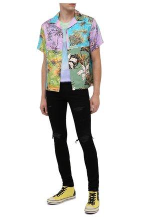 Мужская шелковая рубашка AMIRI разноцветного цвета, арт. F0M06188SE | Фото 2