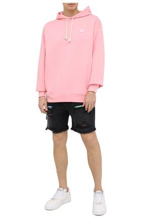 Мужские джинсовые шорты AMIRI черного цвета, арт. F0M11204RD | Фото 2