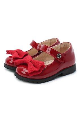 Детские кожаные туфли WALKEY красного цвета, арт. Y1A3-40884-0149/19-24 | Фото 1
