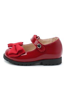 Детские кожаные туфли WALKEY красного цвета, арт. Y1A3-40884-0149/19-24 | Фото 2