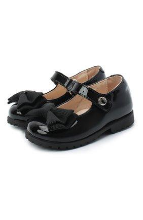 Детские кожаные туфли WALKEY черного цвета, арт. Y1A3-40884-0149/19-24 | Фото 1