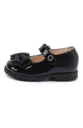 Детские кожаные туфли WALKEY черного цвета, арт. Y1A3-40884-0149/19-24 | Фото 2