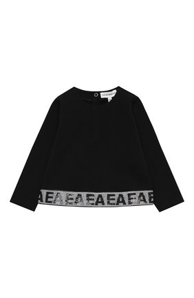 Детский комплект из свитшота и юбки EMPORIO ARMANI черного цвета, арт. 6HEV08/3J3PZ | Фото 2