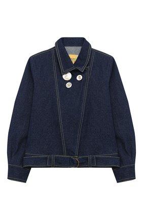 Детская джинсовая куртка MUMOFSIX синего цвета, арт. MOSMI_JA | Фото 1