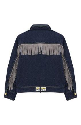 Детская джинсовая куртка MUMOFSIX синего цвета, арт. MOSMI_JA | Фото 2