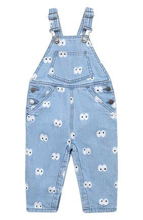 Детский джинсовый комбинезон STELLA MCCARTNEY голубого цвета, арт. 601472/SPK81 | Фото 1