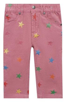 Детские хлопковые брюки STELLA MCCARTNEY розового цвета, арт. 601457/SPK83 | Фото 1