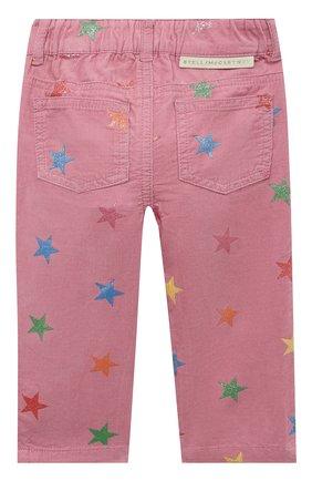 Детские хлопковые брюки STELLA MCCARTNEY розового цвета, арт. 601457/SPK83 | Фото 2