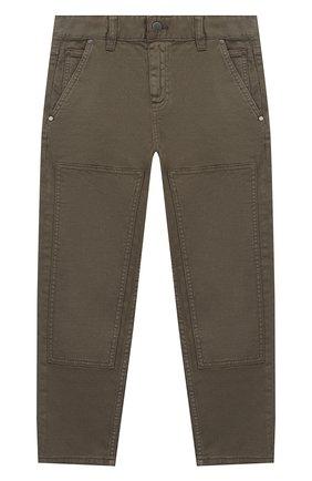 Детские джинсы STELLA MCCARTNEY хаки цвета, арт. 601443/SPK21 | Фото 1