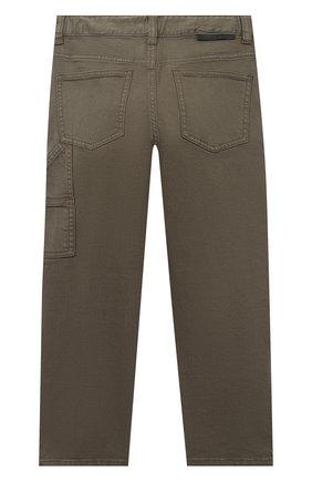 Детские джинсы STELLA MCCARTNEY хаки цвета, арт. 601443/SPK21 | Фото 2