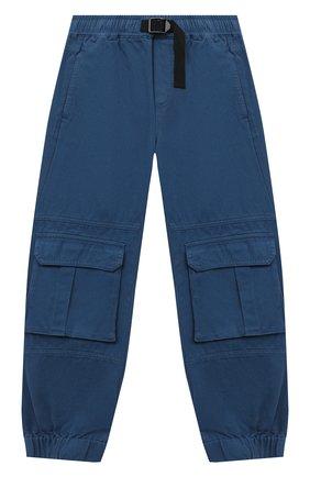 Детские хлопковые брюки-карго STELLA MCCARTNEY синего цвета, арт. 601441/SPK65 | Фото 1