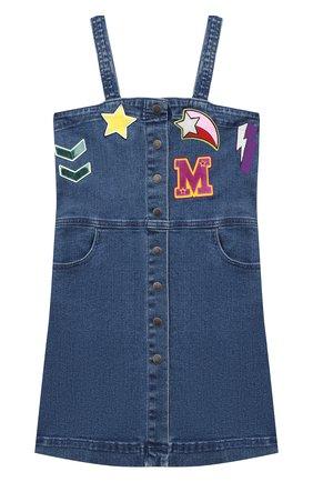 Детское джинсовый сарафан STELLA MCCARTNEY синего цвета, арт. 601300/SPK72 | Фото 1