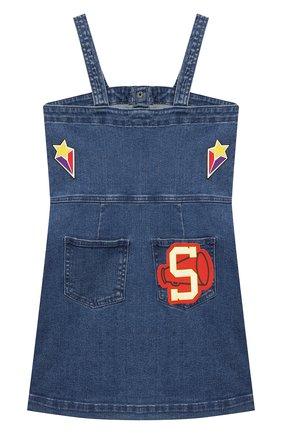Детское джинсовый сарафан STELLA MCCARTNEY синего цвета, арт. 601300/SPK72 | Фото 2