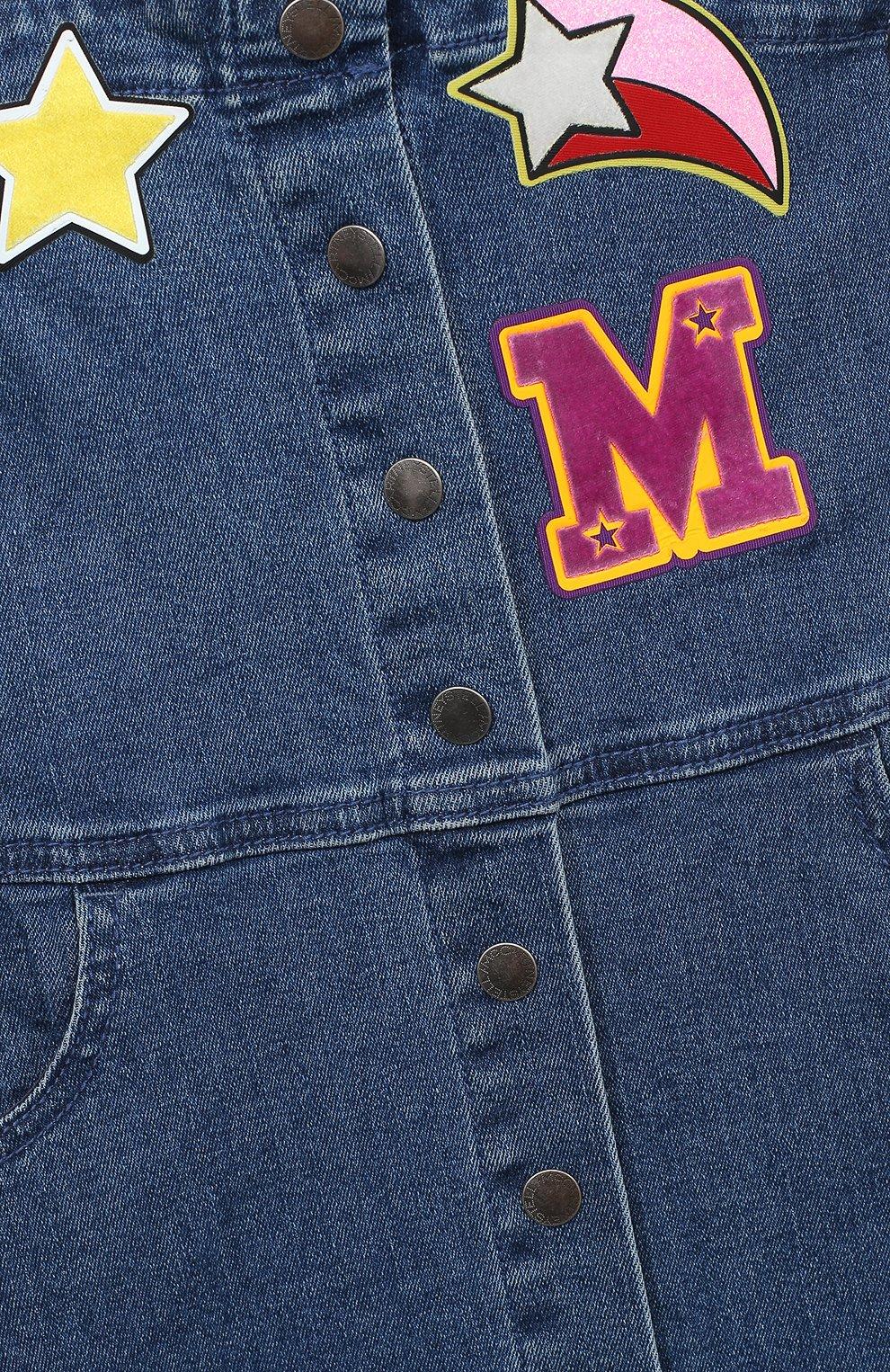 Детское джинсовый сарафан STELLA MCCARTNEY синего цвета, арт. 601300/SPK72 | Фото 3