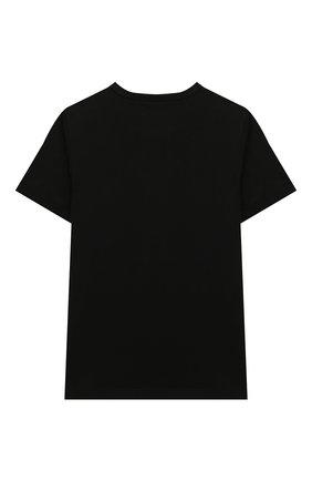 Детская хлопковая футболка STELLA MCCARTNEY черного цвета, арт. 601104/SPJ55 | Фото 2