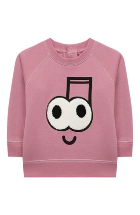 Детский хлопковый свитшот STELLA MCCARTNEY розового цвета, арт. 601056/SPJ99 | Фото 1