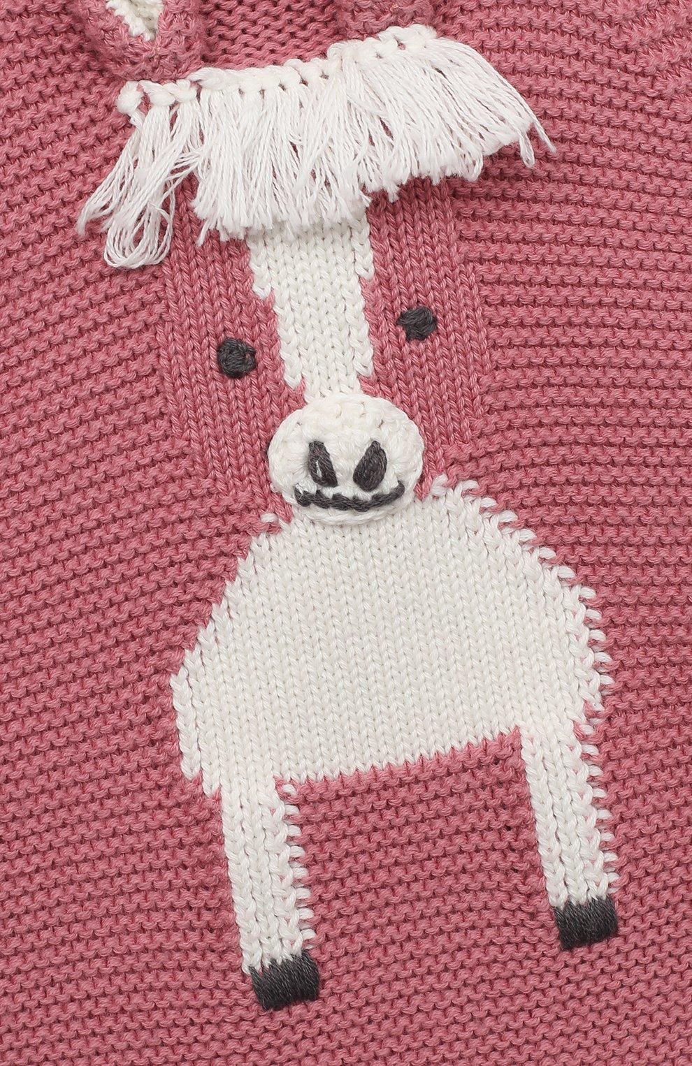 Детское хлопковый боди STELLA MCCARTNEY розового цвета, арт. 601035/SPM15 | Фото 3