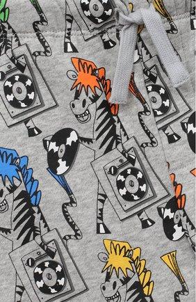 Детские хлопковые джоггеры STELLA MCCARTNEY серого цвета, арт. 601026/SPJ84 | Фото 3