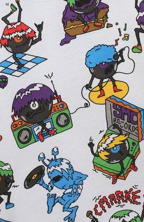 Детский хлопковый лонгслив STELLA MCCARTNEY разноцветного цвета, арт. 601020/SPJ79   Фото 3