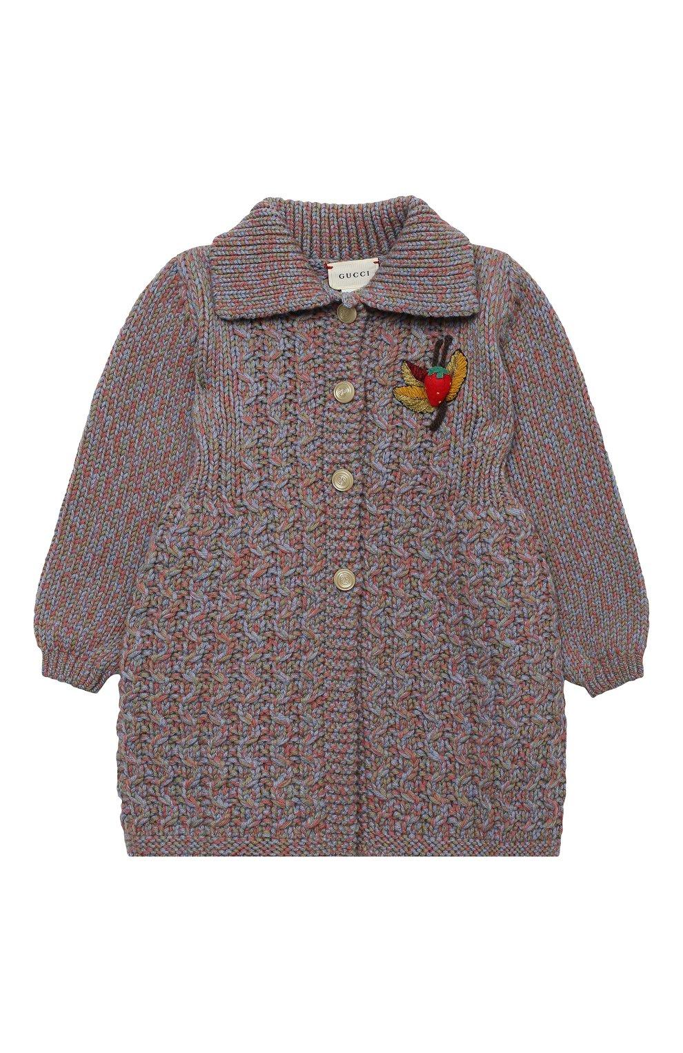 Детского шерстяное пальто GUCCI голубого цвета, арт. 621878/XKBG6 | Фото 1