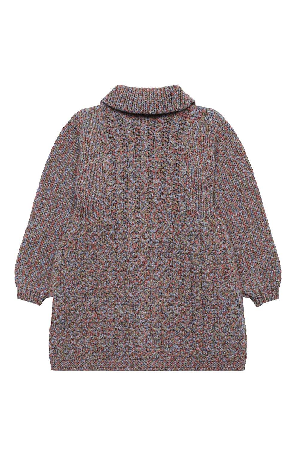 Детского шерстяное пальто GUCCI голубого цвета, арт. 621878/XKBG6 | Фото 2