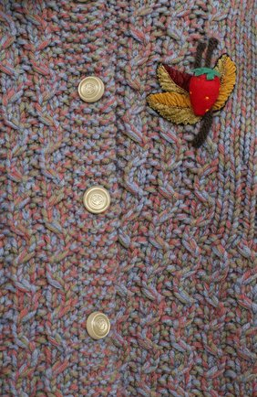 Детского шерстяное пальто GUCCI голубого цвета, арт. 621878/XKBG6 | Фото 3