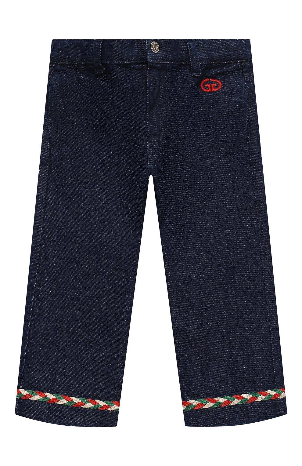 Детские джинсы GUCCI темно-синего цвета, арт. 621808/XDBDB | Фото 1