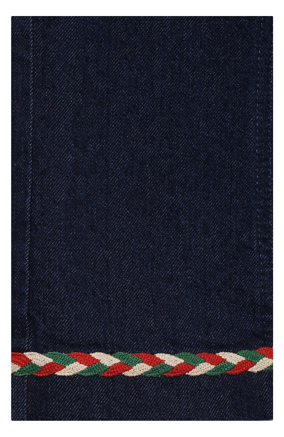 Детские джинсы GUCCI темно-синего цвета, арт. 621808/XDBDB | Фото 3