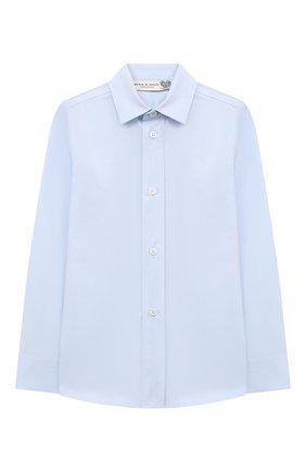 Детская хлопковая рубашка DAL LAGO голубого цвета, арт. DL08/8910/4-6 | Фото 1 (Рукава: Длинные; Материал внешний: Хлопок; Случай: Повседневный; Ростовка одежда: 4 года | 104 см, 5 лет | 110 см, 6 лет | 116 см)