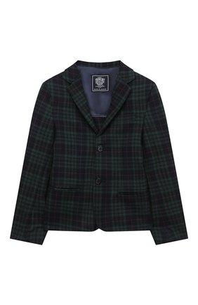 Детский шерстяной пиджак DAL LAGO темно-синего цвета, арт. N048FQ/8921/7-12 | Фото 1
