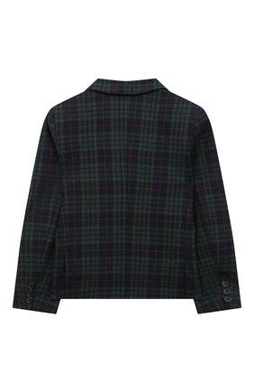 Детский шерстяной пиджак DAL LAGO темно-синего цвета, арт. N048FQ/8921/7-12 | Фото 2