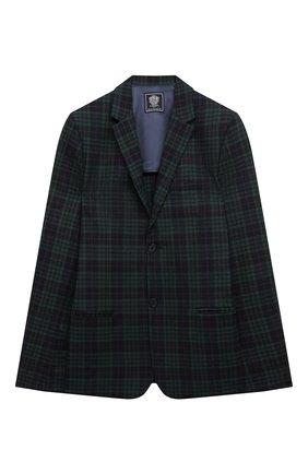 Детский шерстяной пиджак DAL LAGO темно-синего цвета, арт. N048FQM/8921/17/L-18/XL | Фото 1