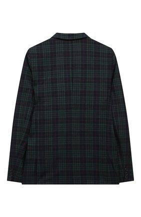 Детский шерстяной пиджак DAL LAGO темно-синего цвета, арт. N048FQM/8921/17/L-18/XL | Фото 2