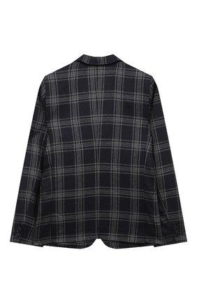 Детский шерстяной пиджак DAL LAGO темно-синего цвета, арт. N089Q/8903/4-6 | Фото 2