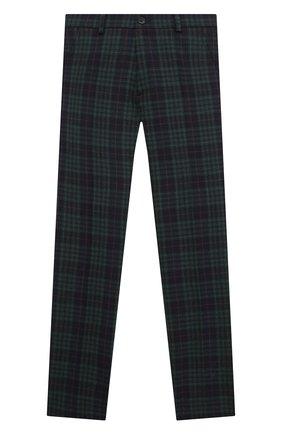 Детские шерстяные брюки DAL LAGO темно-синего цвета, арт. N107Q/8921/7-12 | Фото 1