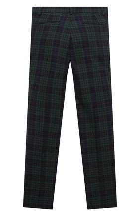 Детские шерстяные брюки DAL LAGO темно-синего цвета, арт. N107Q/8921/7-12 | Фото 2