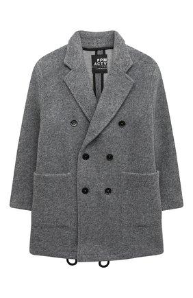 Детское двубортное пальто PAOLO PECORA MILANO серого цвета, арт. PP2526/8A-12A | Фото 1