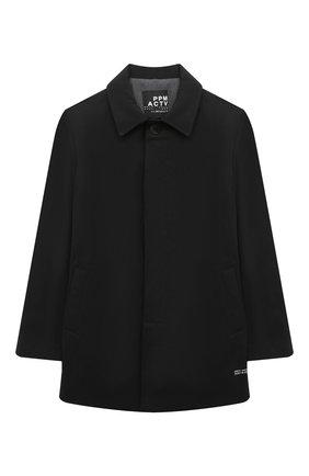 Детское пальто PAOLO PECORA MILANO черного цвета, арт. PP2532/8A-12A | Фото 1