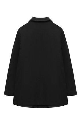 Детское пальто PAOLO PECORA MILANO черного цвета, арт. PP2532/8A-12A | Фото 2