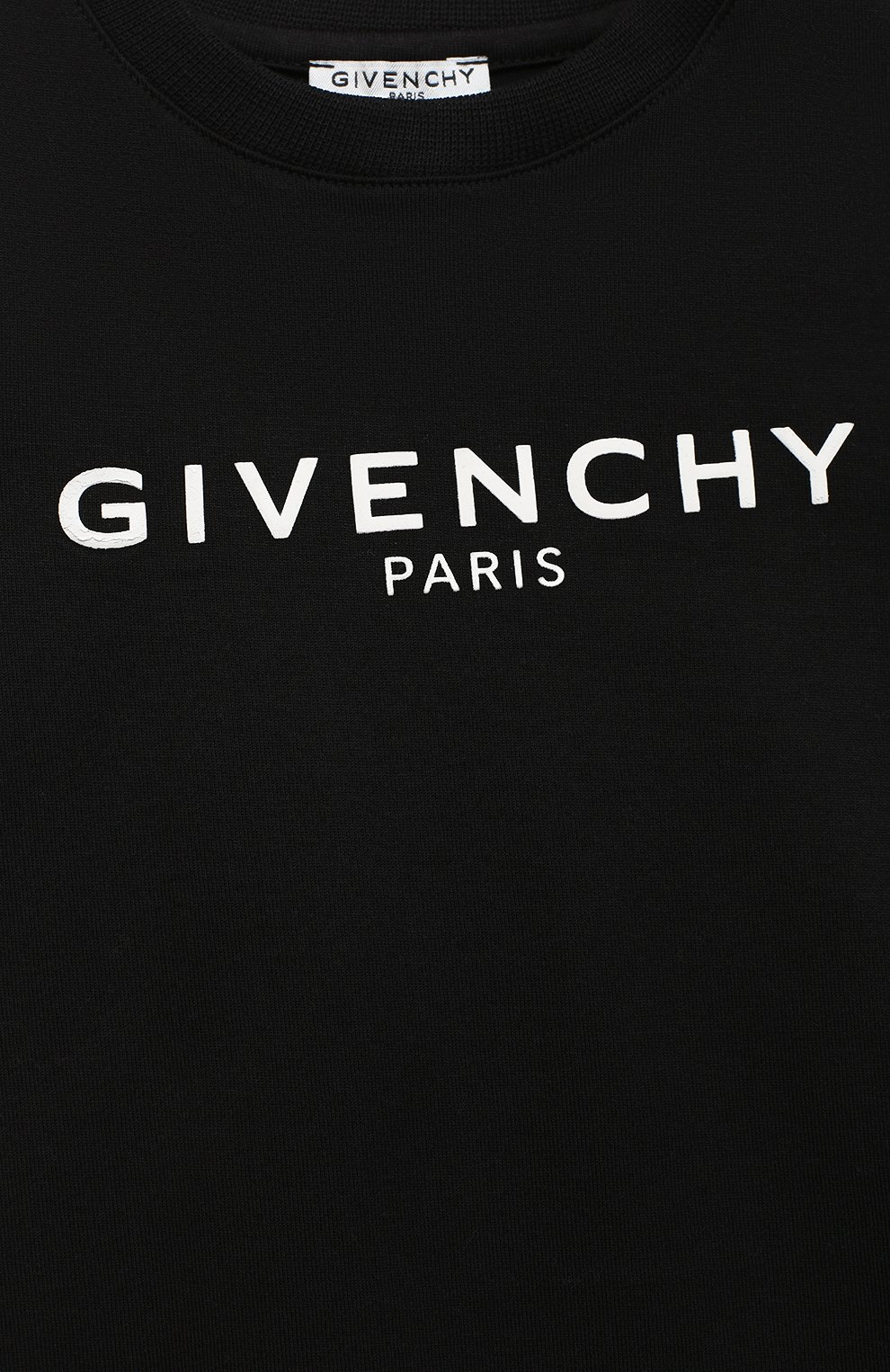 Детский хлопковая футболка GIVENCHY черного цвета, арт. H05J16 | Фото 3