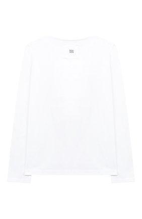 Детская хлопковый лонгслив DOUUOD белого цвета, арт. 20I/U/JR/TE04/1231/4A-8A | Фото 2
