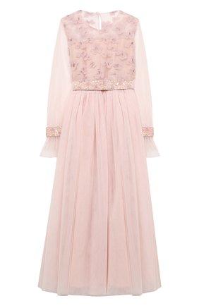 Детское платье DESIGNERS CAT розового цвета, арт. 100000K01000576/10A-12A | Фото 1