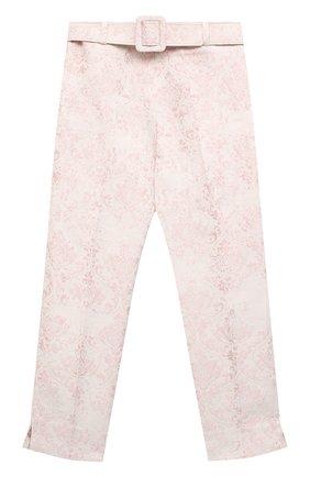 Детские хлопковые брюки DESIGNERS CAT розового цвета, арт. 100000K01000605/10A-12A | Фото 1