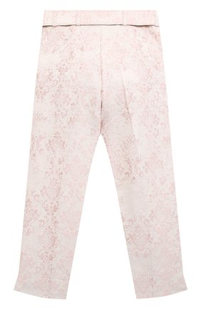 Детские хлопковые брюки DESIGNERS CAT розового цвета, арт. 100000K01000605/10A-12A | Фото 2
