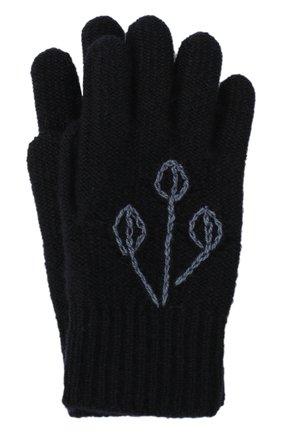 Детские кашемировые перчатки LORO PIANA синего цвета, арт. FAL2496 | Фото 1