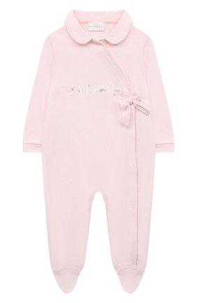 Детский комплект из комбинезона и пинеток LA PERLA розового цвета, арт. 48467 | Фото 2