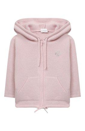Детский кашемировая толстовка LA PERLA розового цвета, арт. 61221/2A-8A | Фото 1 (Рукава: Короткие; Материал внешний: Шерсть, Кашемир; Девочки Кросс-КТ: Толстовка-одежда; Ростовка одежда: 5 лет | 110 см)