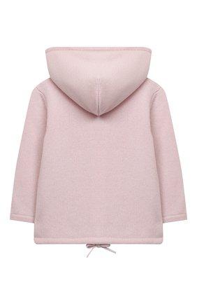 Детский кашемировая толстовка LA PERLA розового цвета, арт. 61221/2A-8A | Фото 2 (Рукава: Короткие; Материал внешний: Шерсть, Кашемир; Девочки Кросс-КТ: Толстовка-одежда; Ростовка одежда: 5 лет | 110 см)