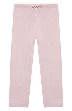 Детские кашемировые брюки LA PERLA розового цвета, арт. 61313/2A-8A | Фото 1 (Материал внешний: Шерсть; Девочки Кросс-КТ: Брюки-одежда; Ростовка одежда: 5 лет | 110 см)
